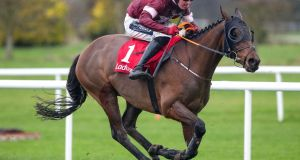 Tiger Roll returns to action on the flat at Navan on Thursday. Photograph: Bryan Keane/Inpho