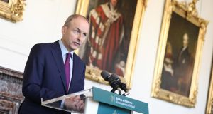 Taoiseach Micheál Martin has said he was 'annoyed' at not being told directly about the contact tracing issue. Photograph: Julian Behal Photography/PA Wire.