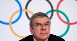 Thomas Bach is president of the International Olympic Committee and former Olympic fencer. Photograph:  Reuters/Denis Balibouse