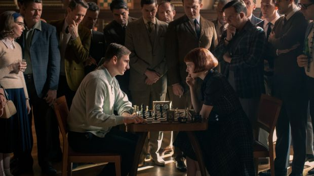 The Queen's Gambit follows a young woman who discovers a talent for chess. Photograph: Phil Bray/Netflix