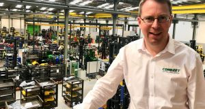 Martin McVicar of CombiLift: demand from many customers in the 80 countries where it sells forklifts is growing in some cases.  Photograph: Peter Murtagh