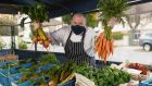 Gaz Smith at his pop-up farm shop which opens today at his Michael's restaurant in Mount Merrion. Photographs: Fran Veale
