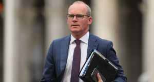 "Minister for Foreign Affairs Simon Coveney: urged businesses to prepare for Brexit, saying they should see the €3.4 billion of ""scarce taxpayers' money"" the Government has earmarked for economic recovery post-Brexit as a sign that it sees the possibility of a ""no trade deal Brexit"" as a ""very real risk"".  Photograph: Niall Carson/PA"