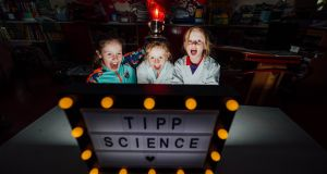 SCIENCE FEST: Laura Butler, Rachel Butler and Emma Butler from Shronell National School in Tipperary pictured at the launch of the Tipperary Festival of Science, which takes place as part of Science Week from November 8th-15th. Photograph: Brian Arthur