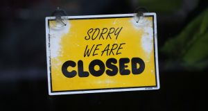 Much of Dublin city centre is now closed for business. Photograph: Nick Bradshaw/The Irish Times