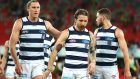 Laois' Zach Tuohy and Kerry's Mark O'Connor will be key players for Geelong in Saturday's AFL Grand Final. File photograph: Getty Images