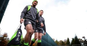 Bundee Aki: has given outstanding servant to  both Connacht and Ireland. Photograph: Billy Stickland/Inpho
