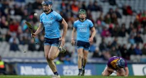 Dublin's Seán Moran in action against Wexford during the Allianz Hurling League. Photograph: Bryan Keane/Inpho