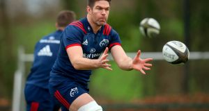 Billy Holland: will captain Munster for the visit of Cardiff Blues to Thomond Park. Photograph: Oisin Keniry/Inpho