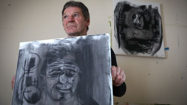 Jimmy Leonard, an artist who lives in Oliver Bond Flats. Photograph: Crispin Rodwell