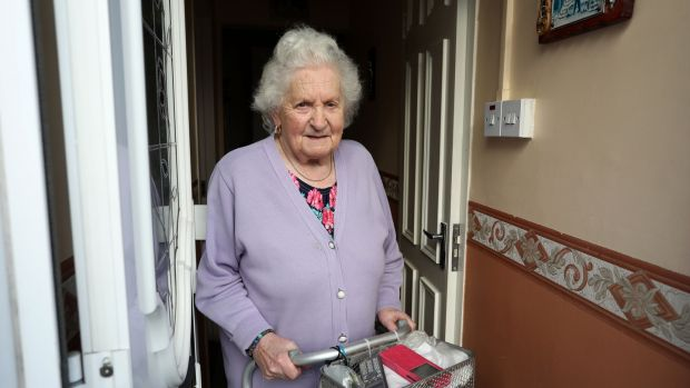 Oliver Bond Flats resident Nora Dodd (93). Photograph: Crispin Rodwell