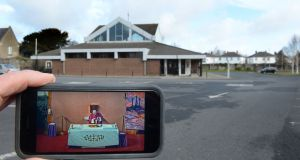 The car park at St Brendan's church in  Coolock, Dublin, stands empty last March as Fr Paddy Stanley celebrates Sunday Mass broadcast live via webcam. Photograph: Dara Mac Dónaill
