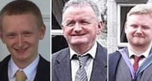 Gardaí were alerted to a shooting incident at Assolas near Kanturk, Co Cork, at about 6.30am on Monday, which left Diarmaid O'Sullivan (23, left), his father Tadhg O'Sullivan (59) and another son, Mark (26, right) dead at the family farm.