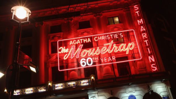 Agatha Christie's The Mousetrap at St Martin's Theatre in London's West End is the longest-running show in the world. Photograph: Oli Scarff/Getty Images