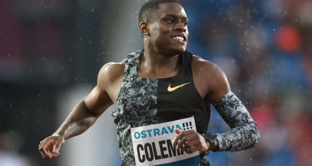 US sprinter Christian Coleman has been  banned for two years for breaching whereabouts rules. Photograph:  Michal Cizek/AFP via Getty Images