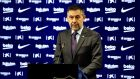 Barcelona  president Josep Maria Bartomeu has resigned along with the board of the club. Photograph: German Parga/EPA