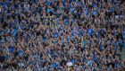 Hill 16 in full cry during the All-Ireland final replay defeat of Kerry  last year. Not having the Hill standing sentry in their big matches at the very least disrupts the status quo for champions Dublin. Photograph: Billy Stickland/Inpho