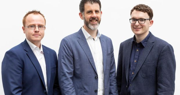 Venari co-founders Seán Cummins, Stephen Cox and Nigel Phelan. Photograph: Martina Regan