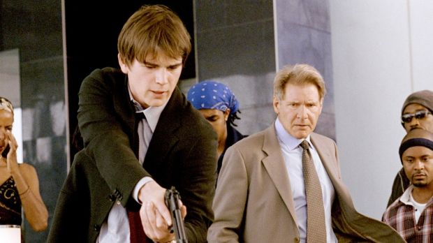 Josh Hartnett and Harrison Ford star in Hollywood Homicide. Photograph: Sidney Baldwin