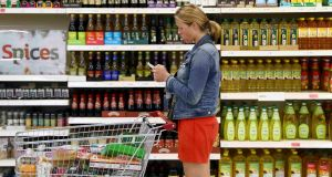 The annual volume of other retail sales, which includes supermarkets, was up 23.9 per cent. Photograph: Neil Hall/ Reuters