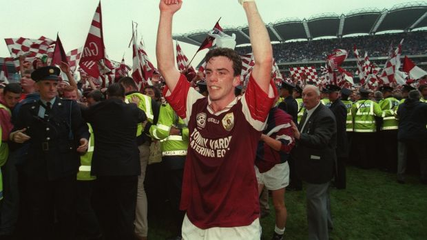 Pádraic Joyce of Galway celebrates at the 1998 All-Ireland football final. Photograph: Keith Heneghan/Inpho