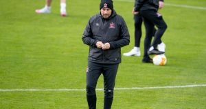 Dundalk manager Filippo Giovagnoli: 'Mikel Arteta and the style that he wants to implement with Arsenal is completely an inspiration for us.' Photograph: Morgan Treacy/Inpho