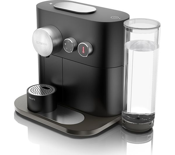 The Krups Expert XN600840 Smart Coffee Machine uses Nespresso pods and has a hot water function for herbal tea.