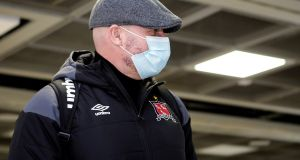 Dundalk manager Filippo Giovagnoli in Dublin airport before departing for London and tonight's Europa League clash with Arsenal. Photograph: Inpho