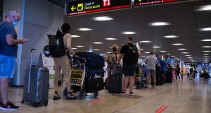 Passengers at Barajas airport in Madrid on July 1st. Photograph: Oscar Gonzalez/NurPhoto via Getty Images
