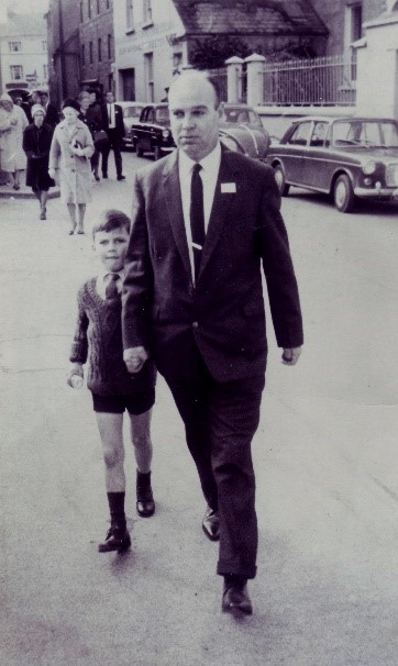 Father and son in 2020, and 1966