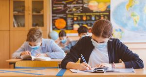 New figures released by the HSE indicate a total of 599 cases of Covid-19 detected among pupils or staff in primary or secondary schools since they reopened in late August. File photograph: Getty