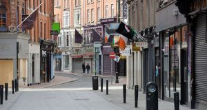 File photo. Dublin's Wicklow Street in April 2020. Photograph: Alan Betson