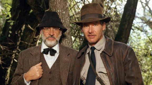Harrison Ford as Indiana Jones and Sean Connery as his father Henry Jones in the film 'Indiana Jones and the Last Crusade', 1989. Photograph: Terry O'Neill/Getty