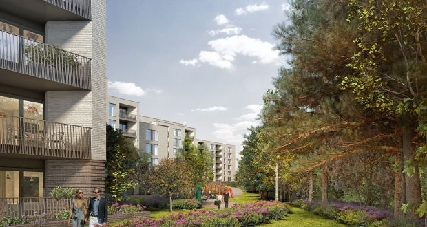A computer-generated image of the apartments at the Green Acre Grange scheme in Dundrum