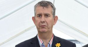 DUP Minister for Agriculture Edwin Poots has warned that 'Northern Ireland plc' could be badly damaged by the Northern Ireland protocol in the UK-EU Brexit withdrawal agreement. File photograph: Paul Faith/AFP/Getty Images