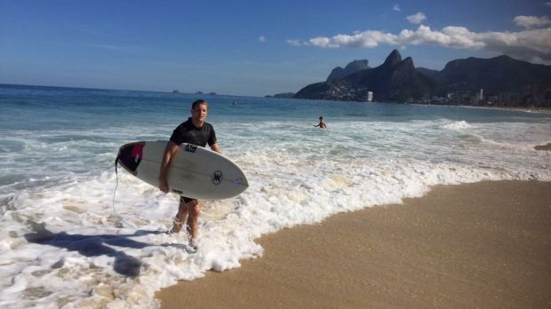 Julian Cornelius says he is not used to the hot weather at Christmas in Rio de Janeiro.