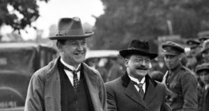 "Michael Collins and Arthur Griffith. ""The ending of the Cork hunger strike, and Griffith's role in the choreography of its conclusion, reminds us that the fight for independence was at least as much about living for Ireland as it was about killing or dying for it."""