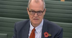 UK government chief scientific adviser Patrick Vallance: admits the data has not taken into account the impact of the current tiered system of local restrictions. Photograph:  PRU/AFP