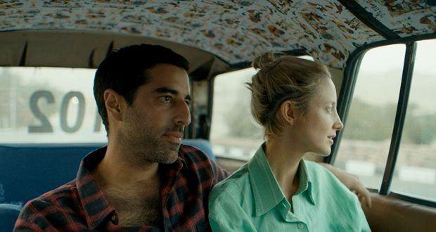 Karim Saleh and Andrea Riseborough in Luxor, a strange marriage of travelogue, post-traumatic stress disorder, spirituality and something like romance. Photograph: Samuel Goldwyn Films