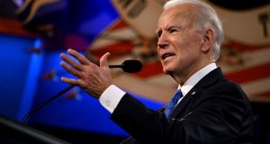 Joe Biden during the final presidential debate at Belmont University in Nashville, Tennessee. Photograph: Jim Watson/AFP via Getty