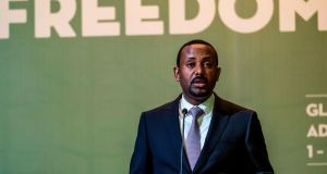 Ethiopian prime minister Abiy Ahmed was awarded the Nobel Peace Prize last year for formalising peace with Eritrea. Photograph: Eduardo Soteras/AFP/Getty Images