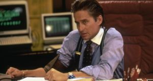 Michael Douglas as 1980s  Wall Street predator Gordon Gekko. 'The theme is evident from the title. Gekko is wrong. Greed is bad and it is dead.'