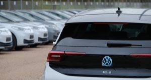 Sisk has taken delivery of 10 new Volkswagen ID.3 electric cars for its company car fleet. Photograph: Sean Gallup/Getty Images