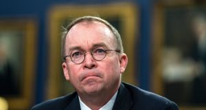 Mick Mulvaney, the US president's special envoy for Northern Ireland, said Mr Coveney told him during a private meeting in September that the EU could use commercial aviation as a lever. Photograph: Jim lo Scalzo/EPA