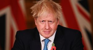 UK prime minister Boris Johnson: 'The UK government and the devolved administrations are working together on a joint approach to the Christmas period, because all of us want to ensure families can come together, wherever they live.' Photograph: Leon Neal/PA Wire