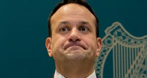 Leo Varadkar: Enmeshed in controversy over the leaking of a GP draft document. Photograph: Gareth Chaney/Collins