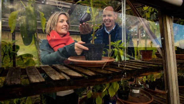 16/10/2020. Ken Madden & Beth-Ann Smith of Lismore Food Company, Lismore, Co. Waterford, in the greenhouse. Picture: Patrick Browne