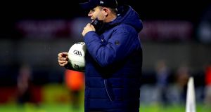 Dublin manager Dessie Farrell at the Leinster GAA Senior Football Championship quarter-final between Dublin and Westmeath at MW Hire O'Moore Park, Portlaoise on Saturday. Photograph: Ryan Byrne/Inpho