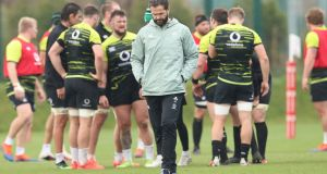 "Andy Farrell: ""Obviously I watch all the games. I analyse all the games and you pick a squad, not just from their provincial form. You pick a squad from who can and who can't play at international level."" Photograph: Billy Stickland/Inpho"