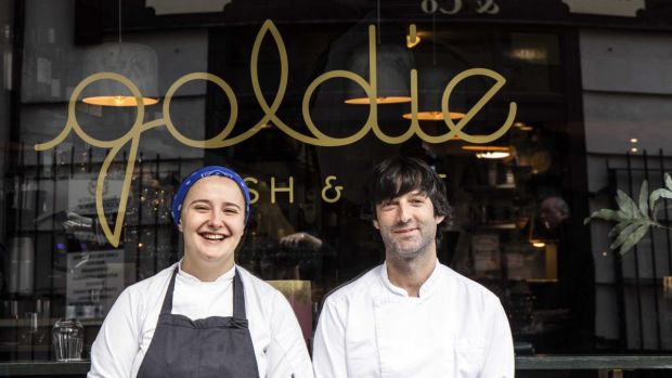 Aishling Moore (25), former head chef of Elbow Lane, and Stephen Kehoe, (39) executive chef of the Market Lane Group